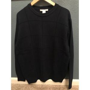 Men's Cotton Crewneck Dark Blue Sweater